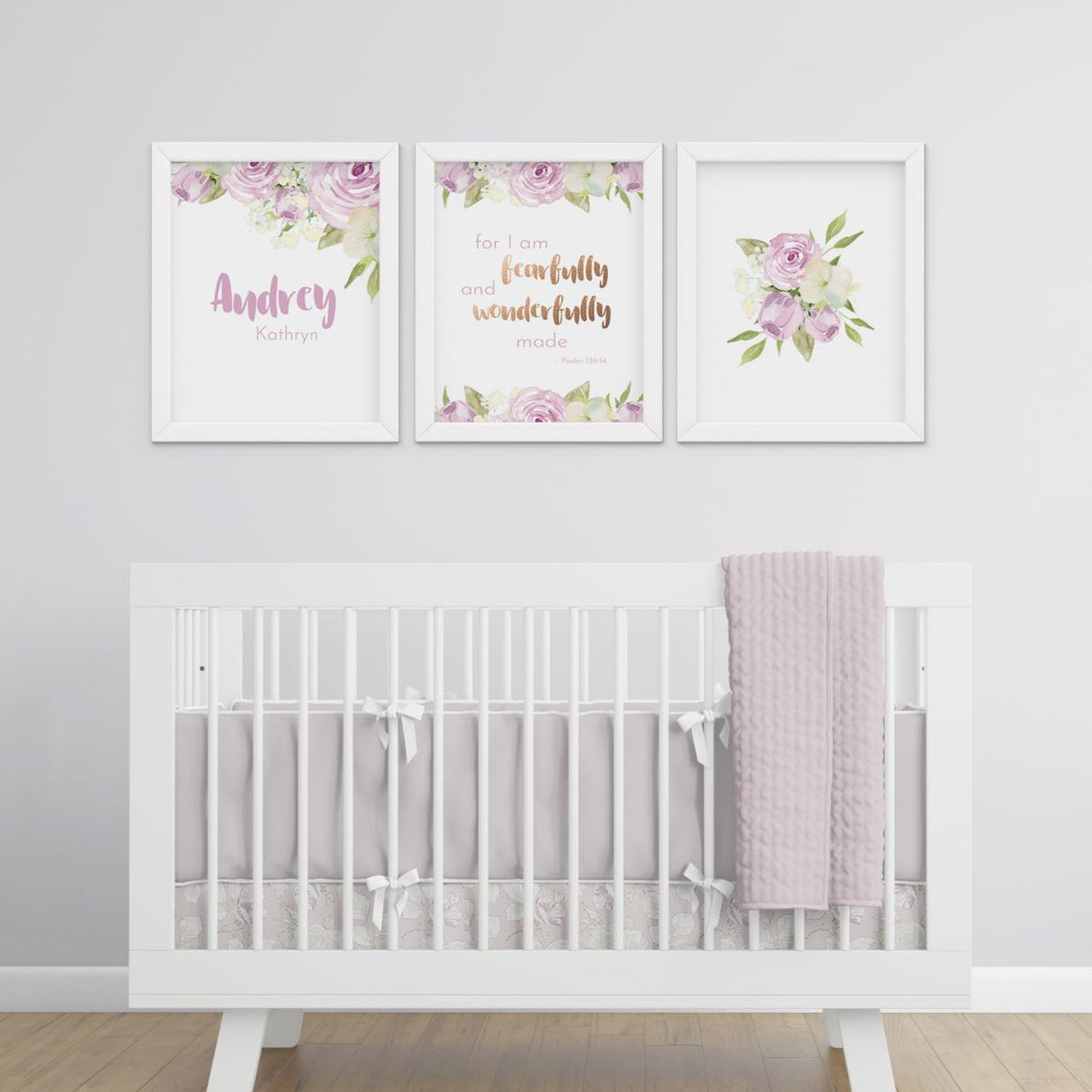 Lavender #1 // Set of 3 Prints | Nursery Prints | The Graceful Goose