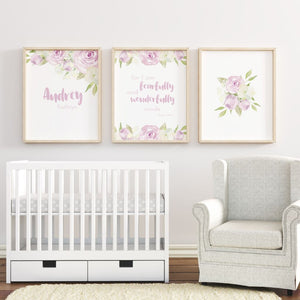 Lavender Nursery Print Set #1 | Nursery Prints | The Graceful Goose