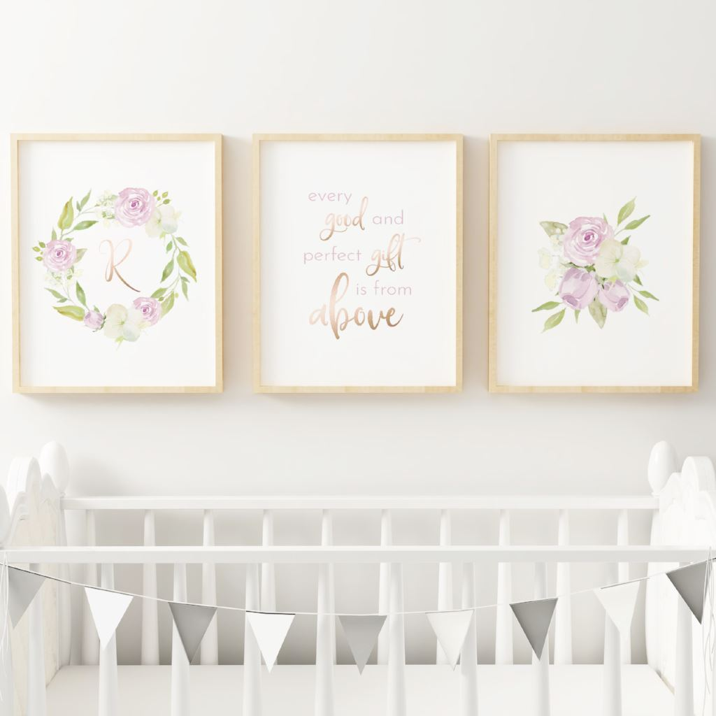 Lavender #3 // Set of 3 Prints Nursery Prints TheGracefulGoose