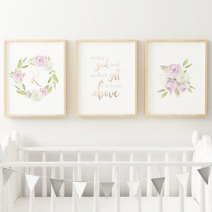 Lavender #3 // Set of 3 Prints | Nursery Prints | The Graceful Goose
