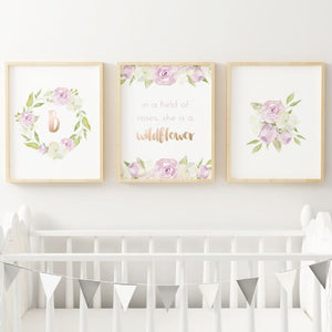 Lavender #4 // Set of 3 Prints | Nursery Prints | The Graceful Goose