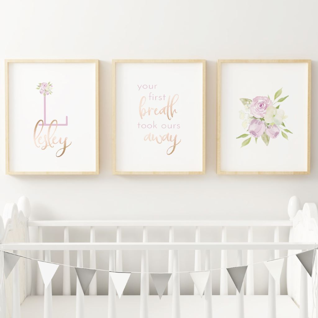 Lavender #5 // Set of 3 Prints Nursery Prints TheGracefulGoose