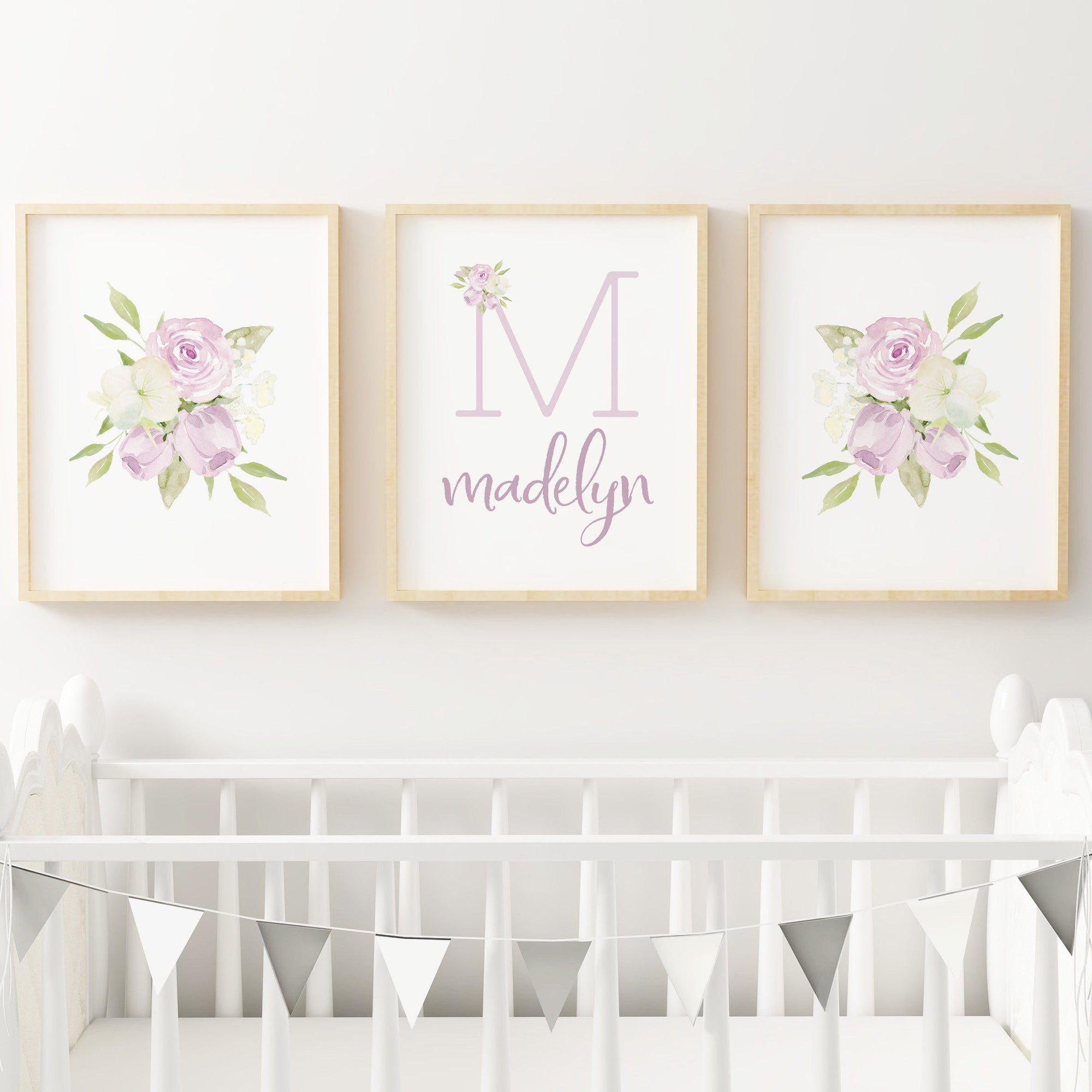 Lavender #7 // Set of 3 Prints Nursery Prints TheGracefulGoose