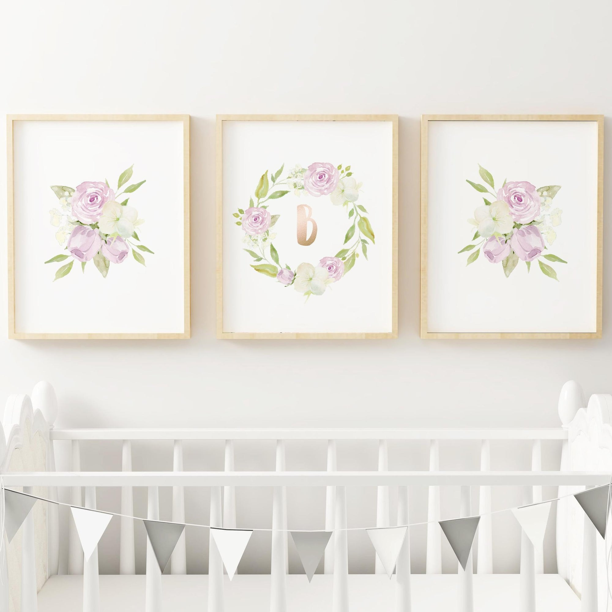 Lavender #6 // Set of 3 Prints Nursery Prints TheGracefulGoose