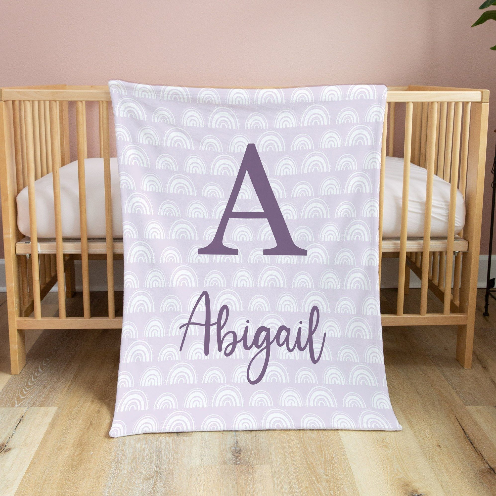 Lavender Rainbow Print Blanket | Baby Blankets | The Graceful Goose