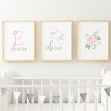 Light Pink and Grey Nursery Print Set #2 | Nursery Prints | The Graceful Goose
