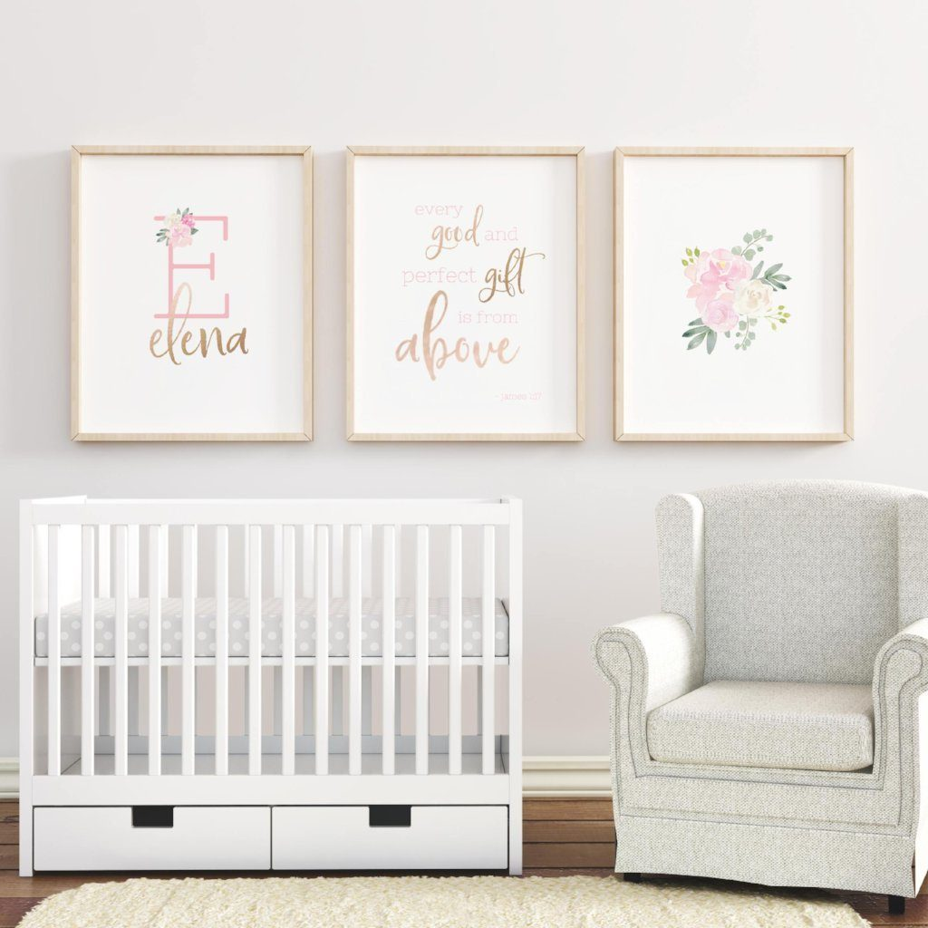 Light Pink #3 // Set of 3 Prints | Nursery Prints | The Graceful Goose