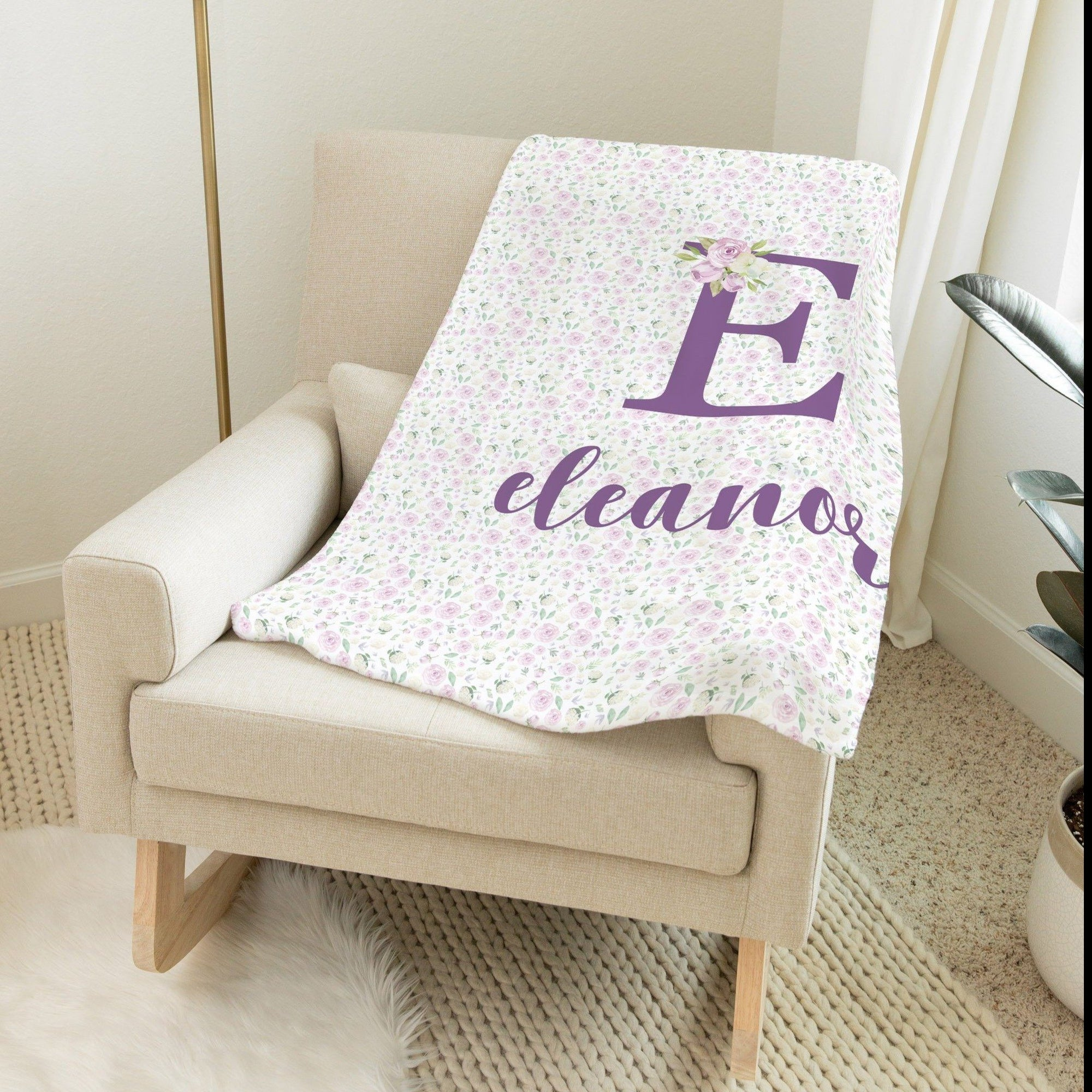 Light Purple Floral Blanket | Baby Blankets | The Graceful Goose