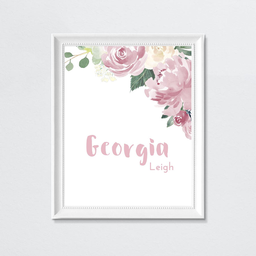 Mauve #1 // Set of 3 Prints | Nursery Prints | The Graceful Goose