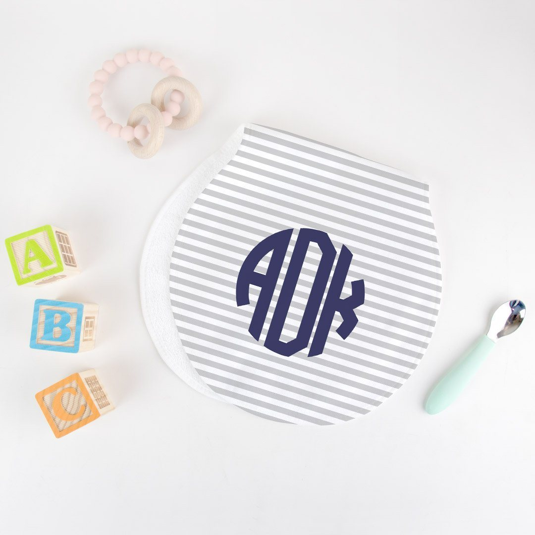 Monogrammed Burp Cloth Limited Time Offer TheGracefulGoose