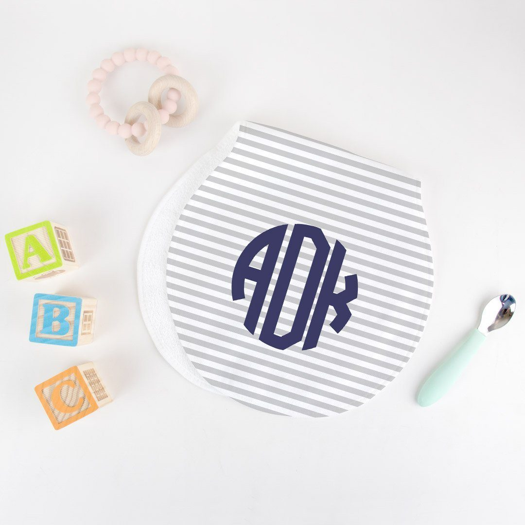 Monogrammed Burp Cloth - Navy Limited Time Offer TheGracefulGoose