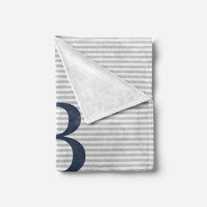 Navy and Grey Blanket | Baby Blankets | The Graceful Goose