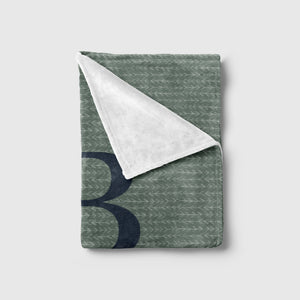 Olive Green and Navy Print Baby Blanket | Baby Blankets | The Graceful Goose