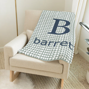 Olive and Navy Adventure Print Blanket Baby Blankets TheGracefulGoose