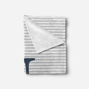 Grey and Navy Baby Blanket | Baby Blankets | The Graceful Goose