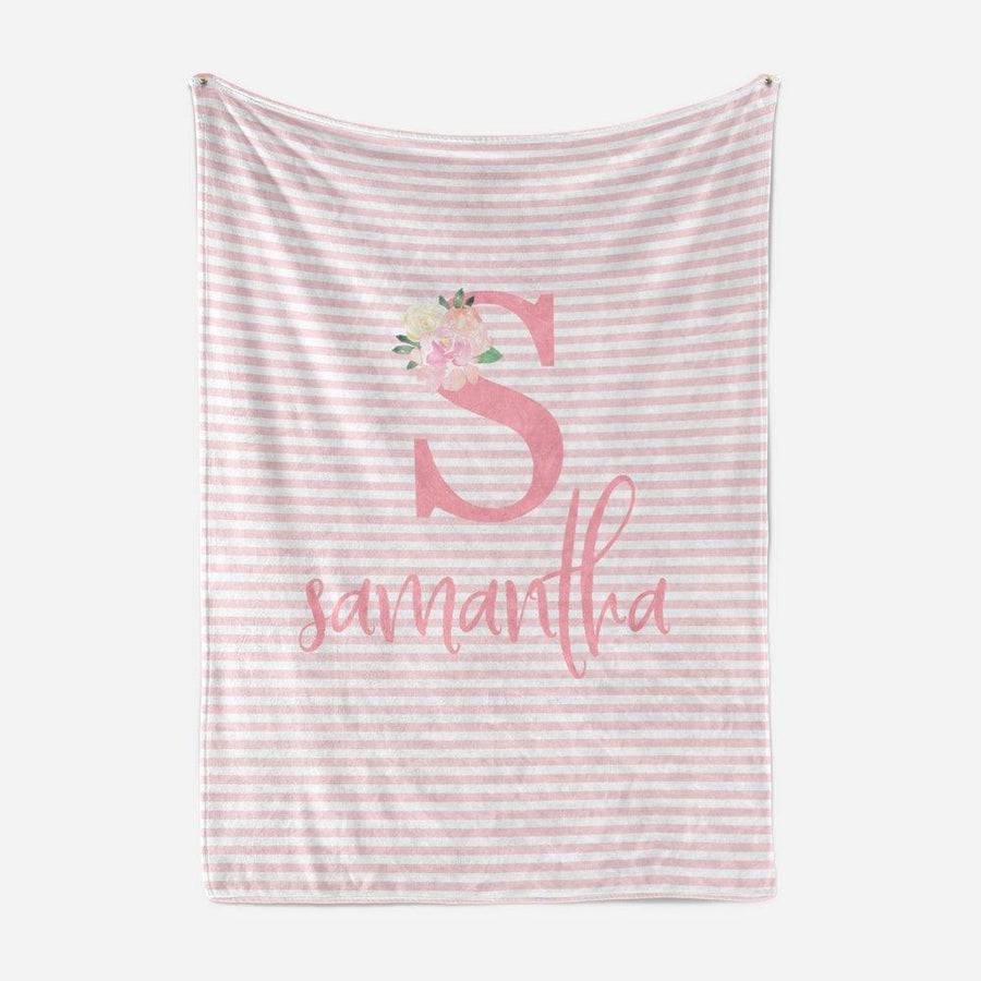 Pink Striped Baby Blanket | Baby Blankets | The Graceful Goose