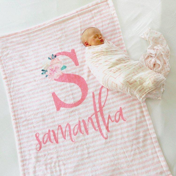 Pink Striped Blanket | Baby Blankets | The Graceful Goose
