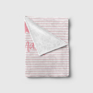 Pink Striped Blanket Baby Blankets TheGracefulGoose