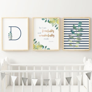 Navy Prehistoric Series Nursery Print Set #1