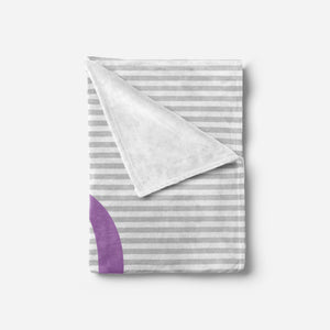 Purple and Grey Baby Blanket | Baby Blankets | The Graceful Goose
