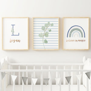 Rainbow #2 // Set of 3 Prints Nursery Prints The Graceful Goose