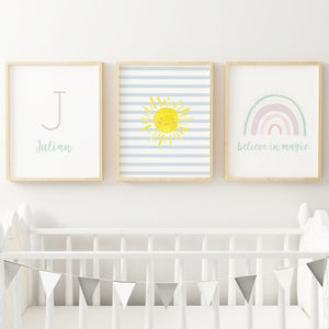 Rainbow #4 // Set of 3 Prints Nursery Prints The Graceful Goose