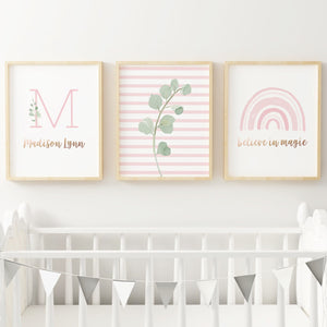 Rainbow #5 // Set of 3 Prints Nursery Prints The Graceful Goose