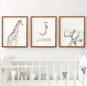 Safari Animal Set #2 // Set of 3 Prints | Nursery Prints | The Graceful Goose
