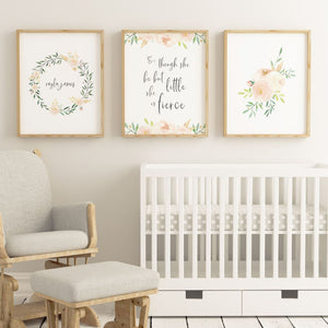 Soft Blush Nursery Print Set #2