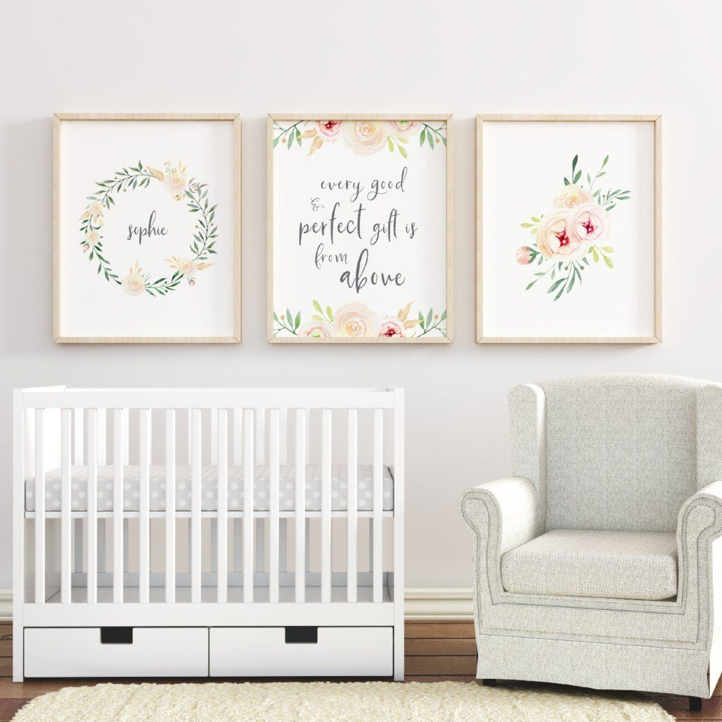Soft Blush #3 // Set of 3 Prints | Nursery Prints | The Graceful Goose
