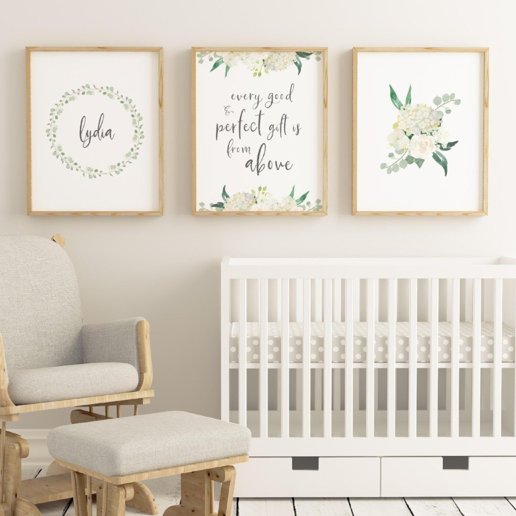 White #1 // Set of 3 Prints Nursery Prints TheGracefulGoose