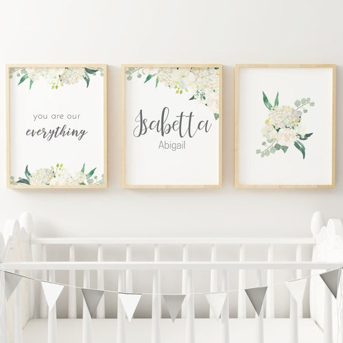 White Nursery Print Set #2