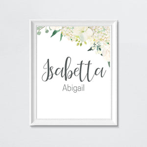 White Nursery Print Set #2 | Nursery Prints | The Graceful Goose