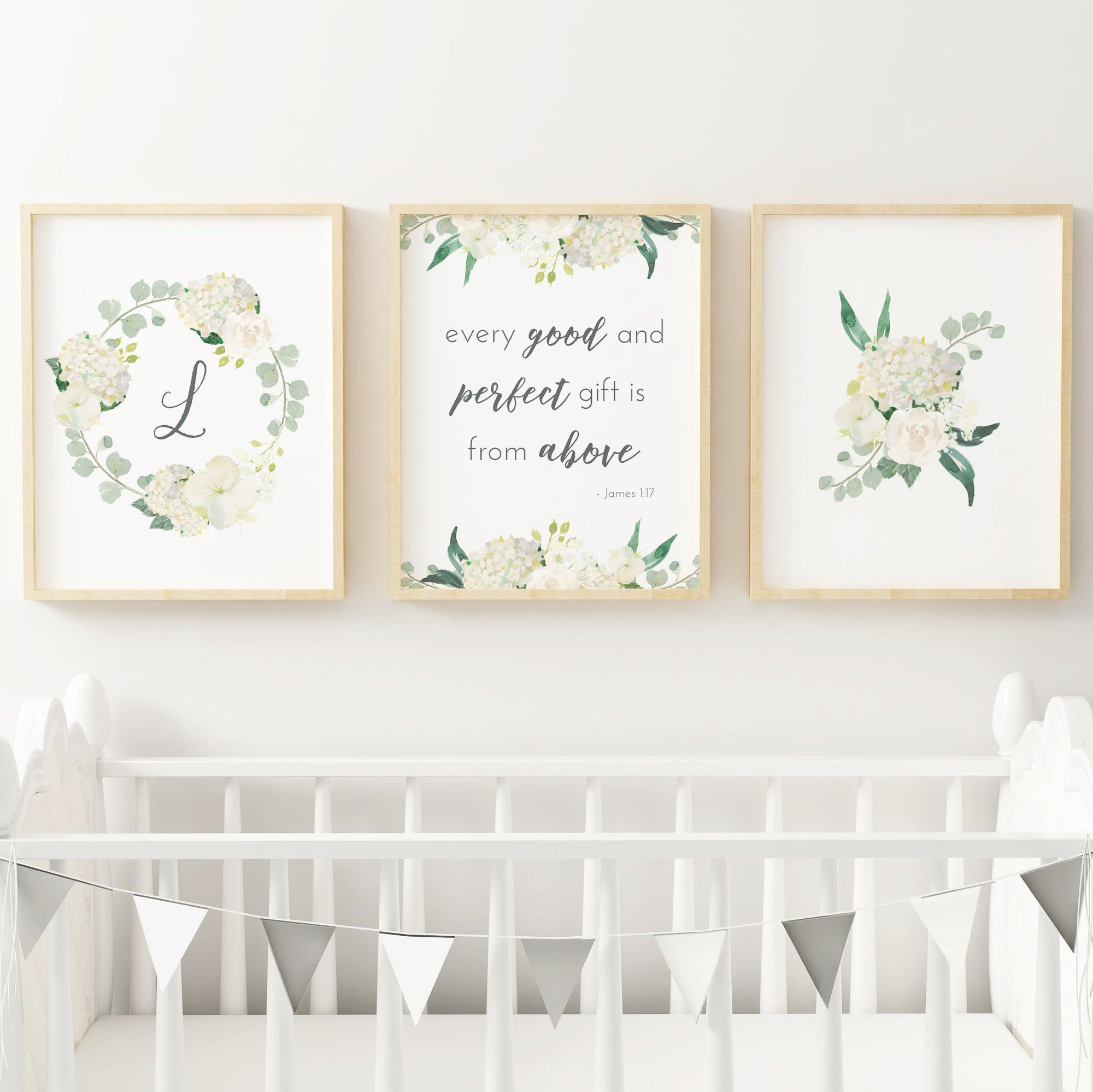 White #3 // Set of 3 Prints Nursery Prints TheGracefulGoose