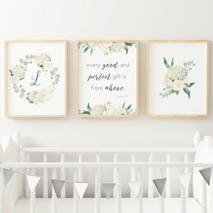 White Nursery Print Set #3 | Nursery Prints | The Graceful Goose