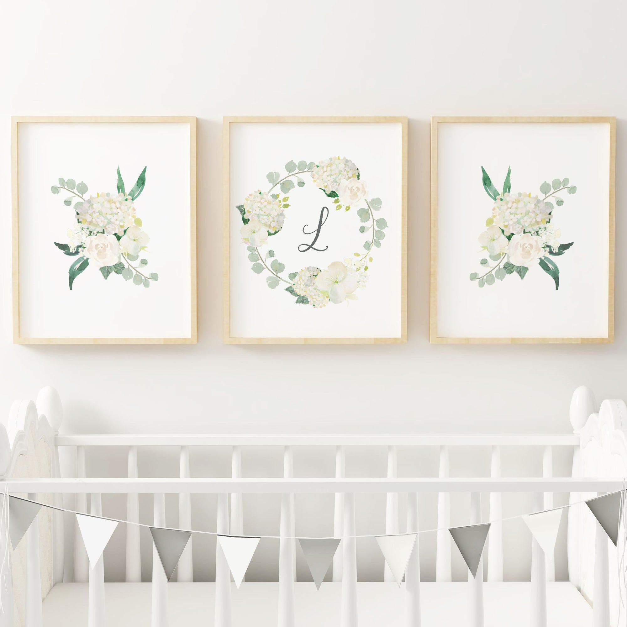 White #4 // Set of 3 Prints Nursery Prints TheGracefulGoose