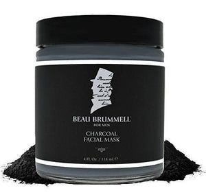 charcoal facial mask mens clay mask activated charcoal beau brummell