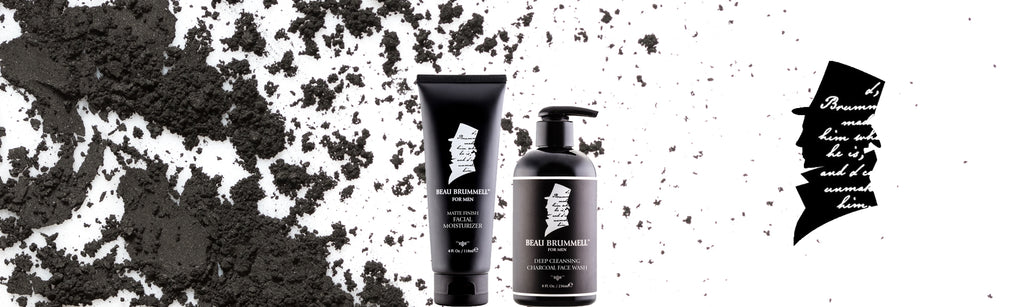 men's skin care products activated charcoal beau brummell