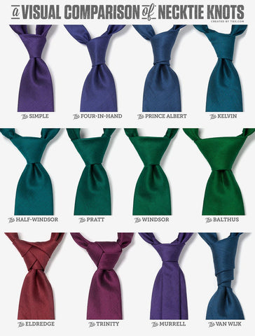 Different Types of Tie Knots, and the Occasion for Each ... on