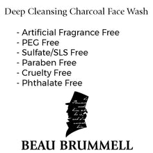 Beau Brummell Skin Care Deep Cleansing Charcoal Face Wash