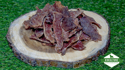 Dehydrated Pork Loin Strips - K9 Kulture