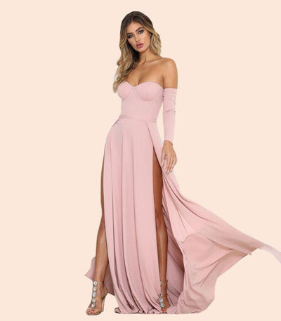 """NILLY"" Strapless Statement Gown"