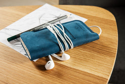 Wallet case for iPhone/ Deep Blue
