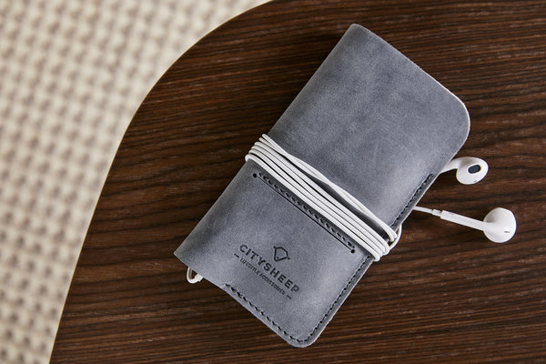 Wallet case for iPhone/ Scandinavian Grey