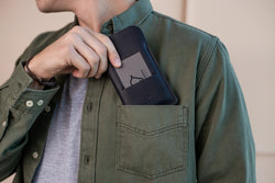 Wallet case for iPhone/ Classy Black