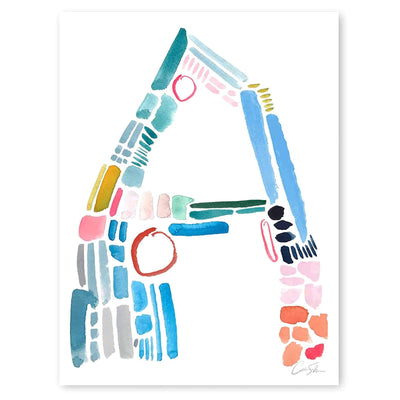 Color Letter A Print by artist Caitlin Shirock