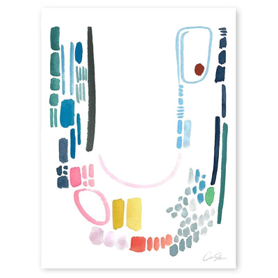 Color Letter U Print by Artist Caitlin Shirock