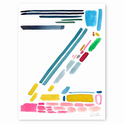 Color Letter Z Print by Artist Caitlin Shirock