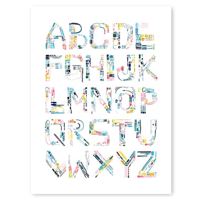Color Letters Alphabet Print by artist Caitlin Shirock