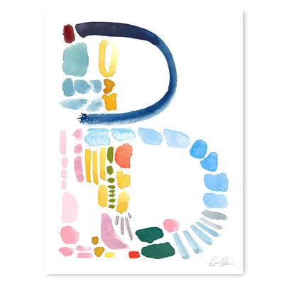 Color Letter B Print by artist Caitlin Shirock